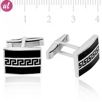 Silver Rectangled Cufflink