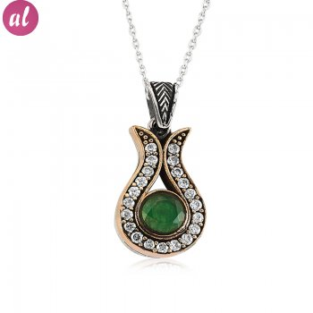 Emerald Stone Authentic Necklace