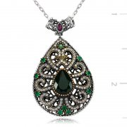 Zircon Stone Drop Shaped Authentic Necklace