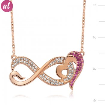 Authentic Eternity and Heart Necklace