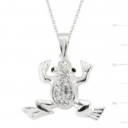 Swarovski Stone Frog Necklace