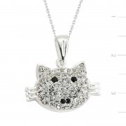 Swarovski Stone Cat Necklace
