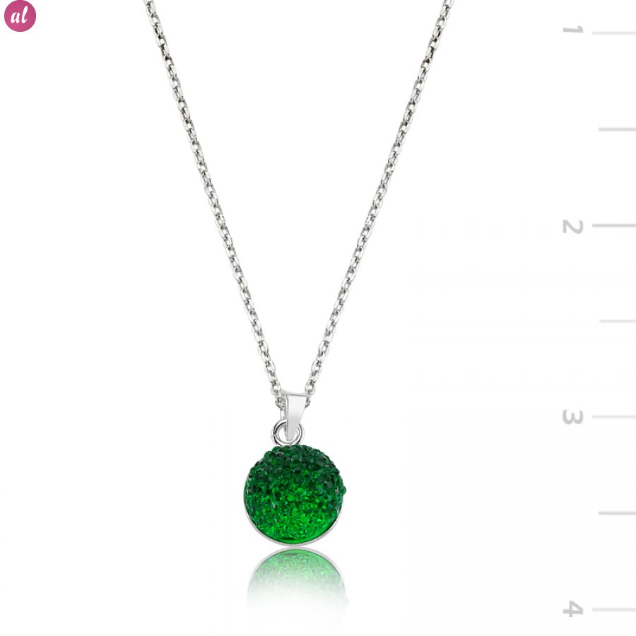 silver pd necklaces green stone necklace swarovski