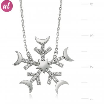 Snowflake Silver Necklace