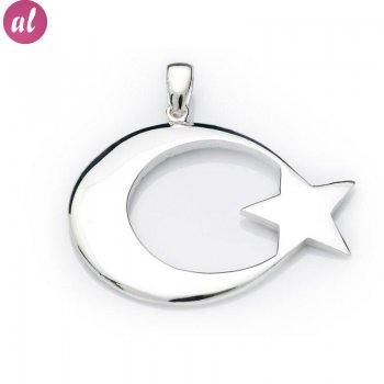 Silver Moon-Star Necklace