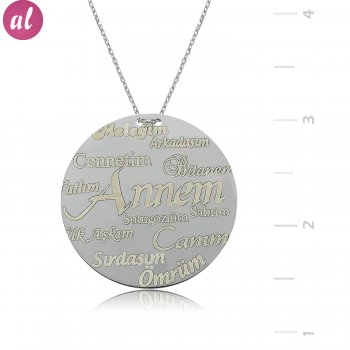 Annelere Special Plate Silver Necklace
