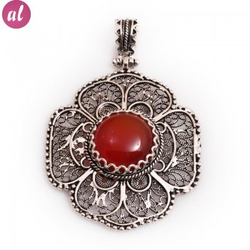 Sardonyx Stone Elephantigree Necklace