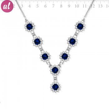 Zircon Stone Big Necklace