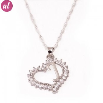 J Letter Silver Necklace