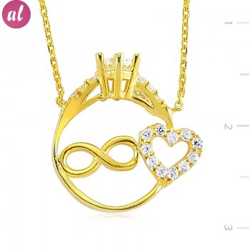 Gold Plated Solitaire Necklace