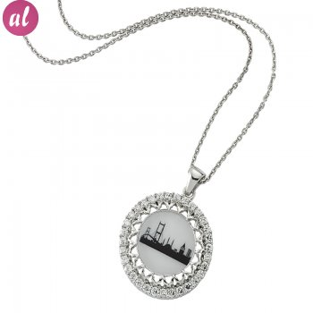 Zircon Stone Istanbul Remembrance Necklace