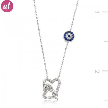 Totemic Couple Heart Necklace