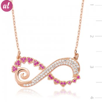 Zircon Stone Heartli Infinite Necklace