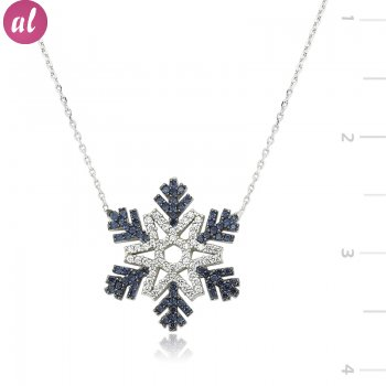 Zircon Stone Snowflake Necklace