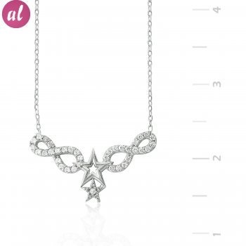 Eternity Star Silver Necklace