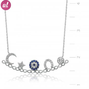 Rhodium Plated Luck Necklacesi