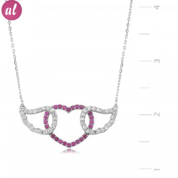 Winglı Heart Silver Necklace