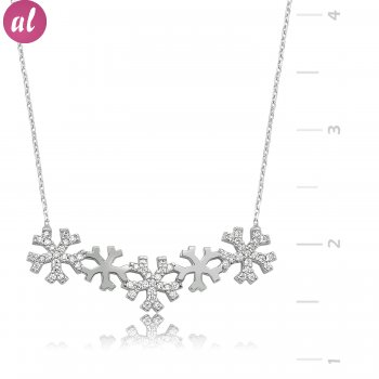 Snowflakes Silver Necklace