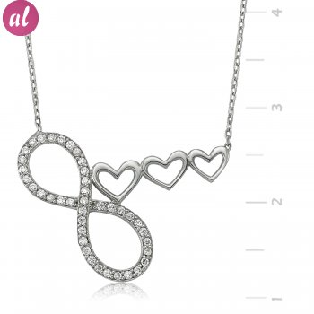 My Heart Infinitea Denk Seninle Silver Necklace