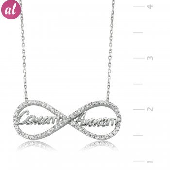 My Heart Annem Eternity Silver Necklace