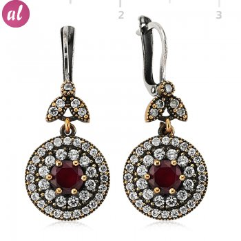 Ruby Stone Authentic Earring