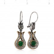 Emerald Stone Authentic Earring