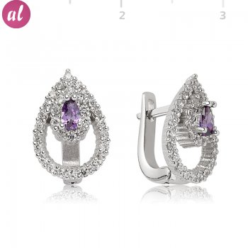 Zircon Stone Drop Shaped Earring