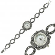 Marcasite Stone Drop Shaped Womens Watch