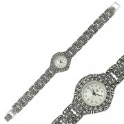 Marcasite Stone Womens Watch