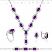 Zircon Stone Silver Full Collection