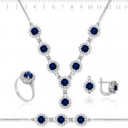 Zircon Stone Full Silver Collection
