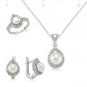 Zircon Stone Pearl Collection