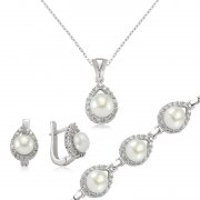Pearl Stone Silver Drop Shaped Collection