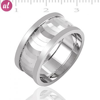 Silver Rhodium Plated Wedding Ring