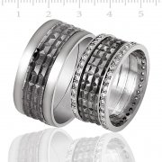 Silver RhodiumPlated Wedding Ring