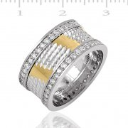 Silver Gold Plated Wedding Ring