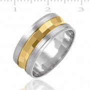 Silver Plated With Gold Wedding Rings