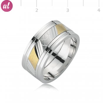 Rhodium Plated Mens Wedding Ring