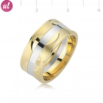 Gold Plated Mens Wedding Ring