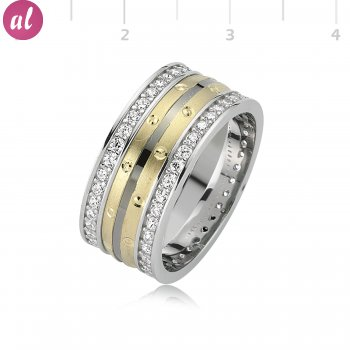 Rhodium Plated Womens Wedding Ring