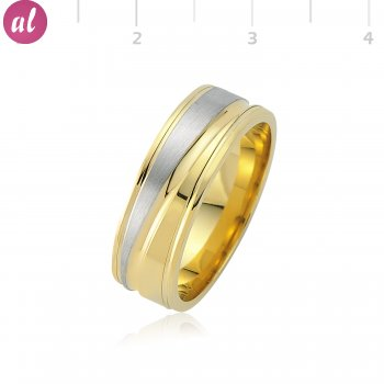 Gold Platedlı Mens Wedding Ring