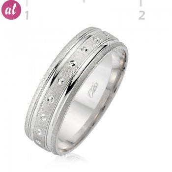 Silver Rhodium Wedding Ring