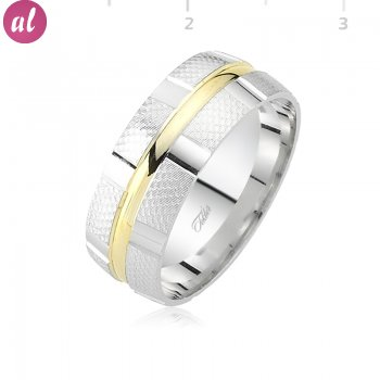 Rhodium Plated Wedding Ring