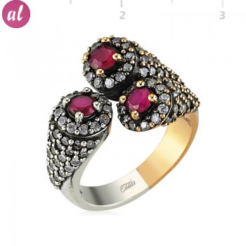 Silver Zircon Pink Stone Authentic Ring