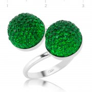 Swarovski Stone Green Ring