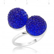 Swarovski Stone Blue Ring
