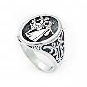 Silver Gemless Mens Ring