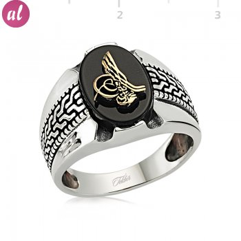 Tughra Silver Mens Ring