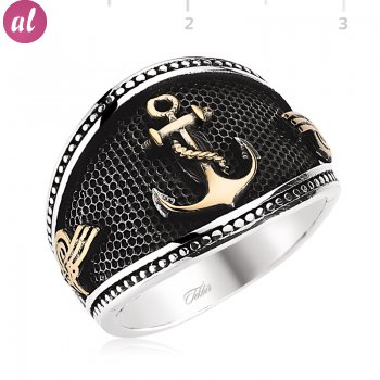 Gemless Tughra Anchor Ring