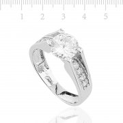 Solitaireı Silver Womens Ring